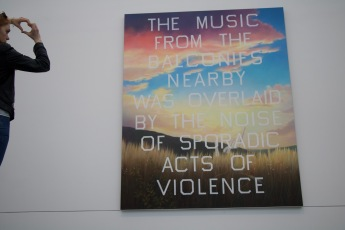 The music from the balconies nearby was overlaid by the noise of sporadic acts of violence. - @Tate Modern